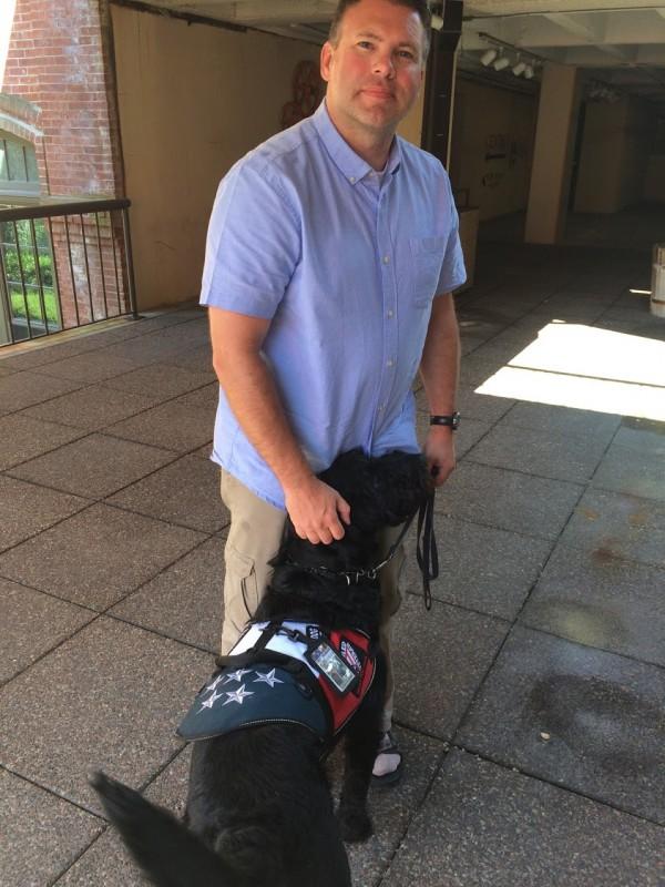 Maj Ben Richards and Service Dog Bronco