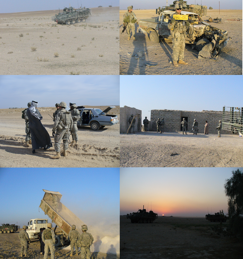 Members of Bronco Troop, 1-14 Cavalry, search for Major Troy Gilbert in Anbar Province Iraq.