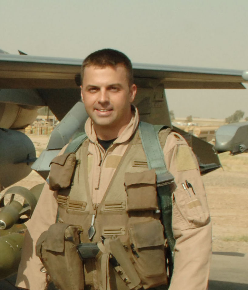When a small team of Army special operations soldiers was forced down in their helicopter during a night-time raid into al Qaeda- controlled portion of Anbar province in Iraq, Air Force F-16 pilot Major Troy Gilbert was on station to provide emergency close air support. As a large al Qaeda force was closing with the isolated Special Forces team,  Gilbert brought his F-16 to tree-top level to strafe the insurgent force with his aircraft's cannon- an extremely high-risk maneuver, but one that Gilbert felt he needed to make to save the US soldiers on the ground. In the darkness, he lost too much altitude during his strafing run and his plane crashed.