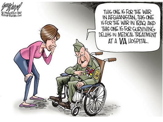 Veterans Cartoon by Gary Varval