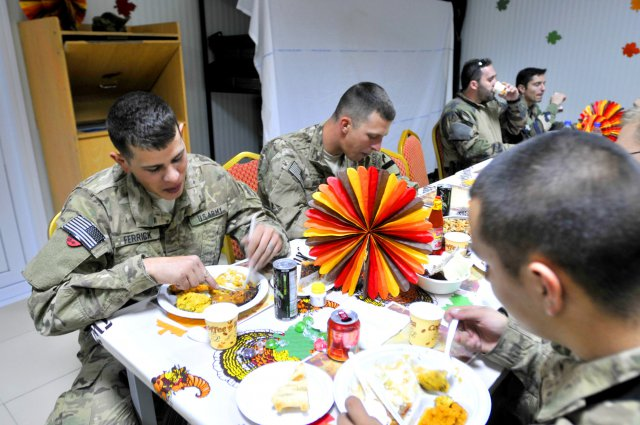 US military Thanksgiving